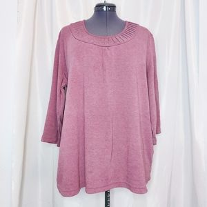 Miami Long Sleeve Dark Pink Top Size 4X